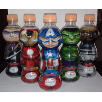 Garrafinha Água Vingadores Bonafont Hulk Capitão Thor Ferro