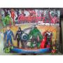 Kit Bonecos Vingadores Marvel Com Luz De Led