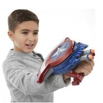 Escudo Nerf Capitão América Lançador Dardos Civil War Hasbro