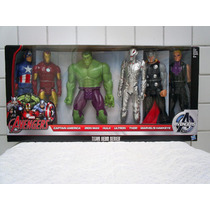 Marvel Avengers Set 6 Bonecos - Titan Hero Series - Hasbro