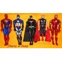 Homem De Ferro, Capitão América, Homem Aranha, Thor, Batmam