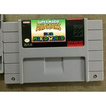 Fita Original De Super Nintendo Mario All Star + Mario Word