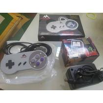 Super Nintendo Kit Controle + Fonte Novos Na Caixa !!!!