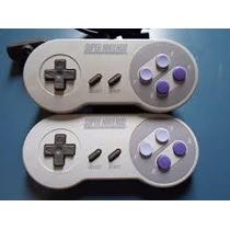 2 Controles De Super Nes + 1 Fonte Super Nintendo Bivolt