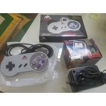 Kit Super Nintendo 2 Controles + 1 Fonte Bivolt
