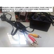 Kit Super Nintendo Fonte + Cabo Av Novos Na Caixa