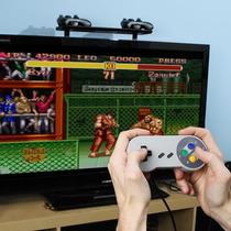 Controle Super Nintendo Usb Para Pc + Brinde Dvd De Jogos