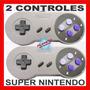 Kit 2 Controles De Super Nintendo - Novo Na Caixa - Garantia