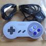 Controle Super Nintendo, Original Modelo Baby, Como Novo!