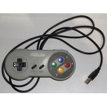 Controle Super Nintendo Snes Usb