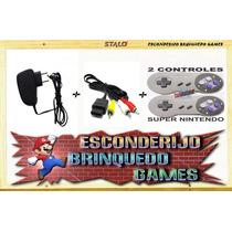 Kit -fonte+cabo Av+2 Controles P/super Nintendo