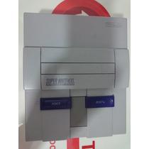 Super Nintendo Completo 2 Controles Cabo Av Fonte Cartucho