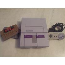 Super Nintendo +1 Controle Original + Cabo + Fonte + Jogos
