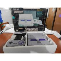 Super Nintendo Com Caixa + 2 Controles + Fonte + Cabo Rf