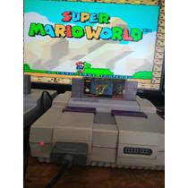 Super Nintendo + 2 Control + Super Mario World Original