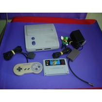 Super Nintendo Com 1 Controle Orig E Mario World Gravando