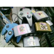 Nintendo 64 Com 2 Controles Memory Card Zelda 1 E 2 , E Mari