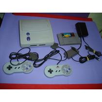 Videogame Super Nintendo Com 2 Controles E 1 Fita