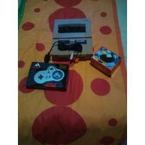 Super Nintendo Com 1 Controle + Fonte + Cabo Av + Cartucho