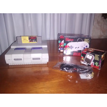 Super Nintendo Snes Super Nes Com Fita +2 Controles Completo