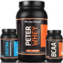 Combo Hipertrofia Whey Chocolate+ Bcaa + Creatina Peter Food