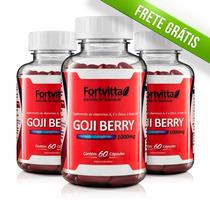 3 Potes De Goji Berry Fortvitta C/ 60 Caps De 1000mg