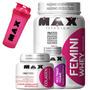 Femini Whey 900g + Colageno + Multimax Femme - Max Titanium