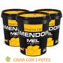 3 Potes De Pasta De Amendoim C/ Mel Orgânico 500g - Mandubim