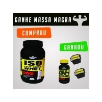 Iso Whey 900g + Gh Anabol (promoção Comprou Ganhou)