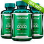 3 Oleo De Coco Extra Virgem Fortvitta / 60 Caps. De 1000mg