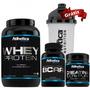 Combo Atlhetica - Whey Protein + Bcaa + Creatina+brinde