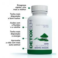 Detox Slim Super Emagrecedor 60 Cápsulas Original
