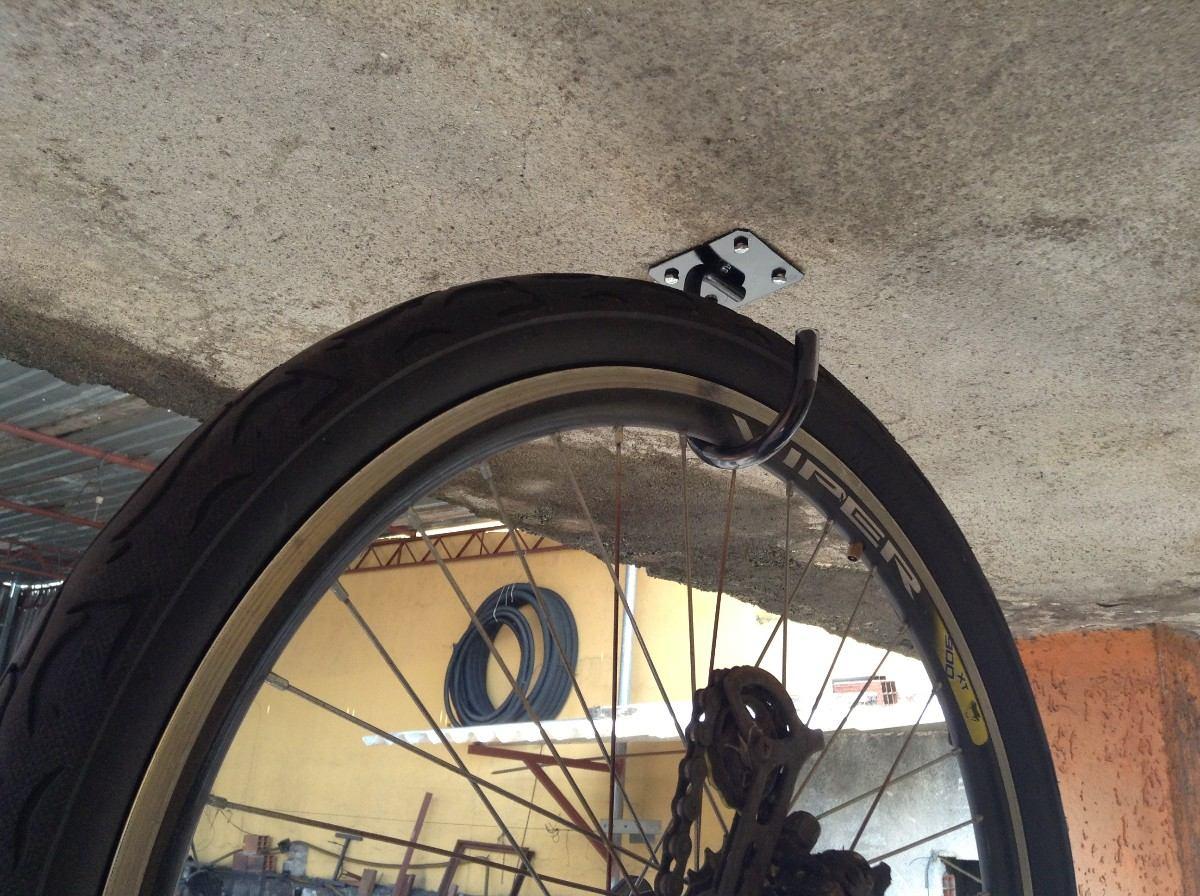 Suporte gancho para pendurar bicicleta de parede teto - Gancho bicicleta pared ...