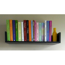 Prateleira Decorativa Livros 45cm Mdf Preto Fabric. Própria