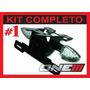 Kit Suporte De Placa Com Pisca Led E Luz Placa Moto Cbr 600f