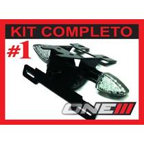 Kit Completo Suporte Piscas Luz De Placa Led P/ Hornet 2013