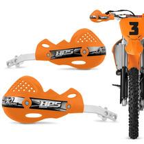 Protetor Mao Pro Tork Hps Aluminio Trilha Motocross Laranja
