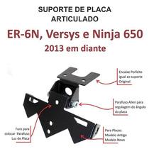 Suporte Placa Com Regulagem- Er-6n, Versys, Ninja 650