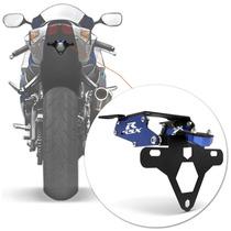 Suporte Placa Gsx R 750 Srad Moto Led Articulado Azul Rabeta