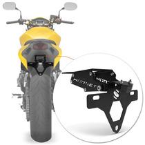 Suporte Placa Hornet Moto Led Articulado Preto Rabeta Honda