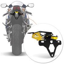 Suporte Placa Gsx R 750 Moto Led Articulado Dourado Rabeta