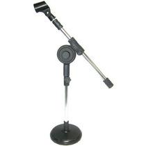 Mini Pedestal De Microfone De Mesa Girafa Visão C/ Cachimbo