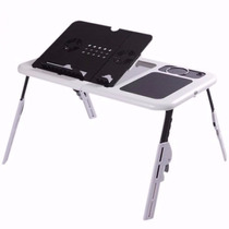 Mesa P/ Notebook E-table Portátil Dobrável Regulável Cooler