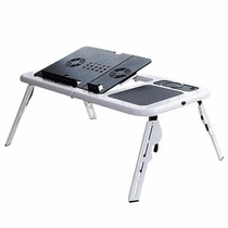 Mesa P/computador Notebook Portátil Dobrável Cooler Branca