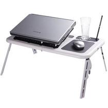 Mesa P/notebook Note Book Portátil Dobrável Regulável Cooler