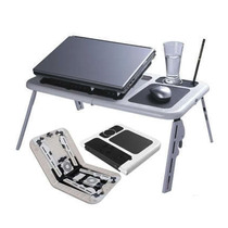 Mesa Notebook Laptop E-table Note Dobrável Com 2 Coolers