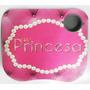 Bandeja De Colo Almofada Porta Copos Princesa Rosa Pink