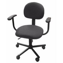 Cadeira Secretaria Office C/ Braço - Preta