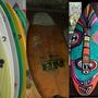 Arte Pranchas Surf Recicladas Decorativa. Motivo Afro-tribal