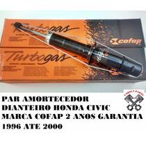 Par Amortecedor Dianteiro Honda Civic 96 97 98 99 2000 Cofap